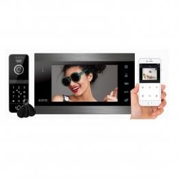 WIDEODOMOFON ''EURA'' VDP-00C5 - czarny, monitor 7'', WiFi, kamera 960p, RFID, szyfrator